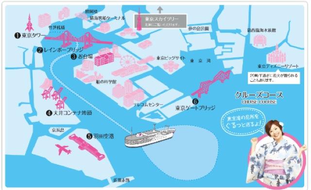 納涼船ルートマップ